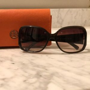 Tory Burch logo temple sunglasses